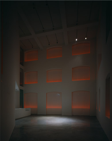 Louise Blouin Foundation at night