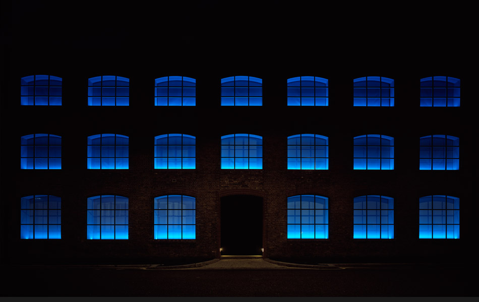 Louise Blouin Foundation at night by Simon Dance Design