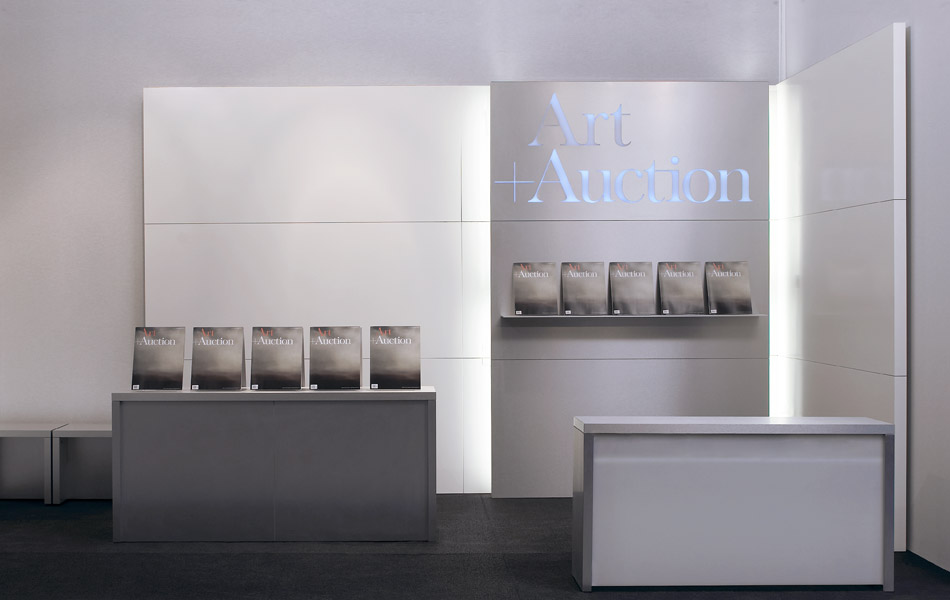 Art & Auction Exhibition System FIAC Paris stand by Simon Dance Design